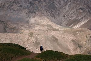 Hiker in Aconcagua National Park