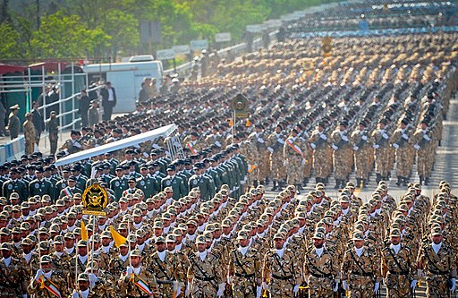 IRIA soldiers marching in formation