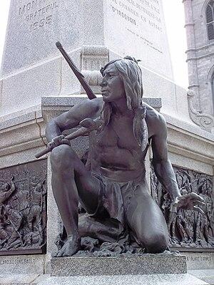 Français : Iroquois du Monument à Maisonneuve,...