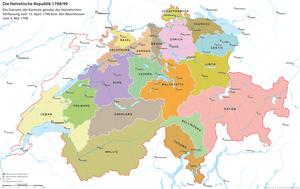Deutsch: Die Helvetische Republik nach dem Ans...