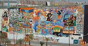 Una parete del forum di Barcellona