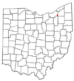 Location of Solon in Ohio