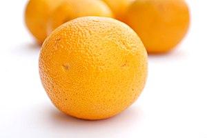 Oranges white background