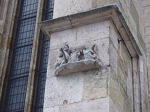 Deutsch: Relief der sogenanten Judensau. Südse...