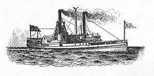 English: The Long Island Sound steamboat Rhode...