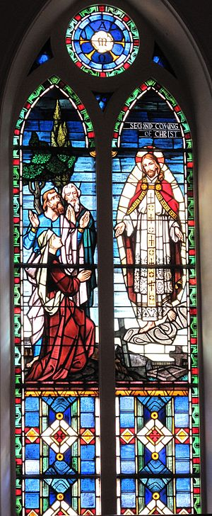 The Second Coming of Christ window at St. Matt...