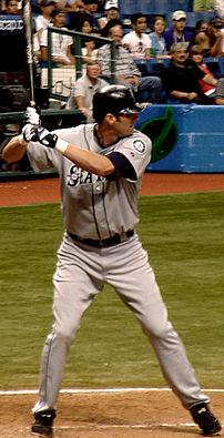 Richie Sexson awaits a pitch, May 2005. Photo ...