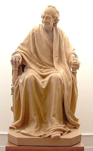 Français : Statue de Voltaire, Institut et Mus...