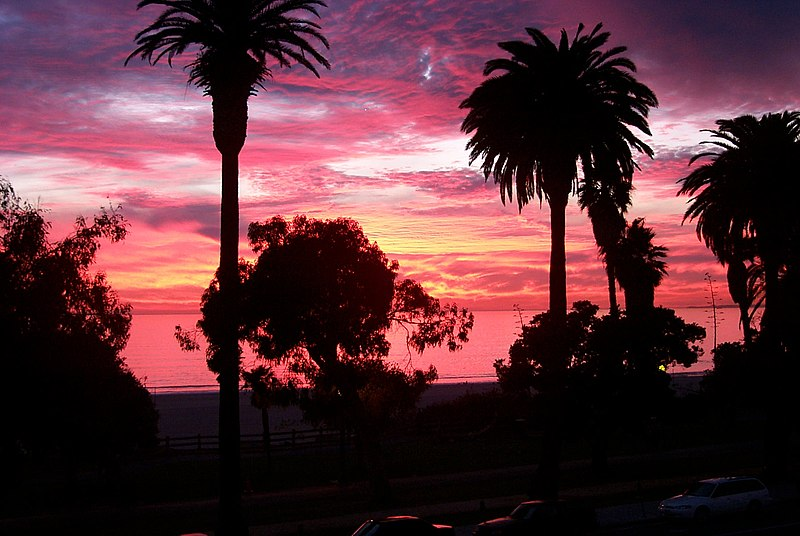 File:Sunset in santa monica.jpg