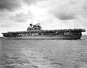 USS Enterprise (CV-6) en route to Pearl Harbor...