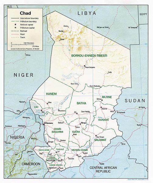 Archivo:Chad relief map 1991, CIA.jpg