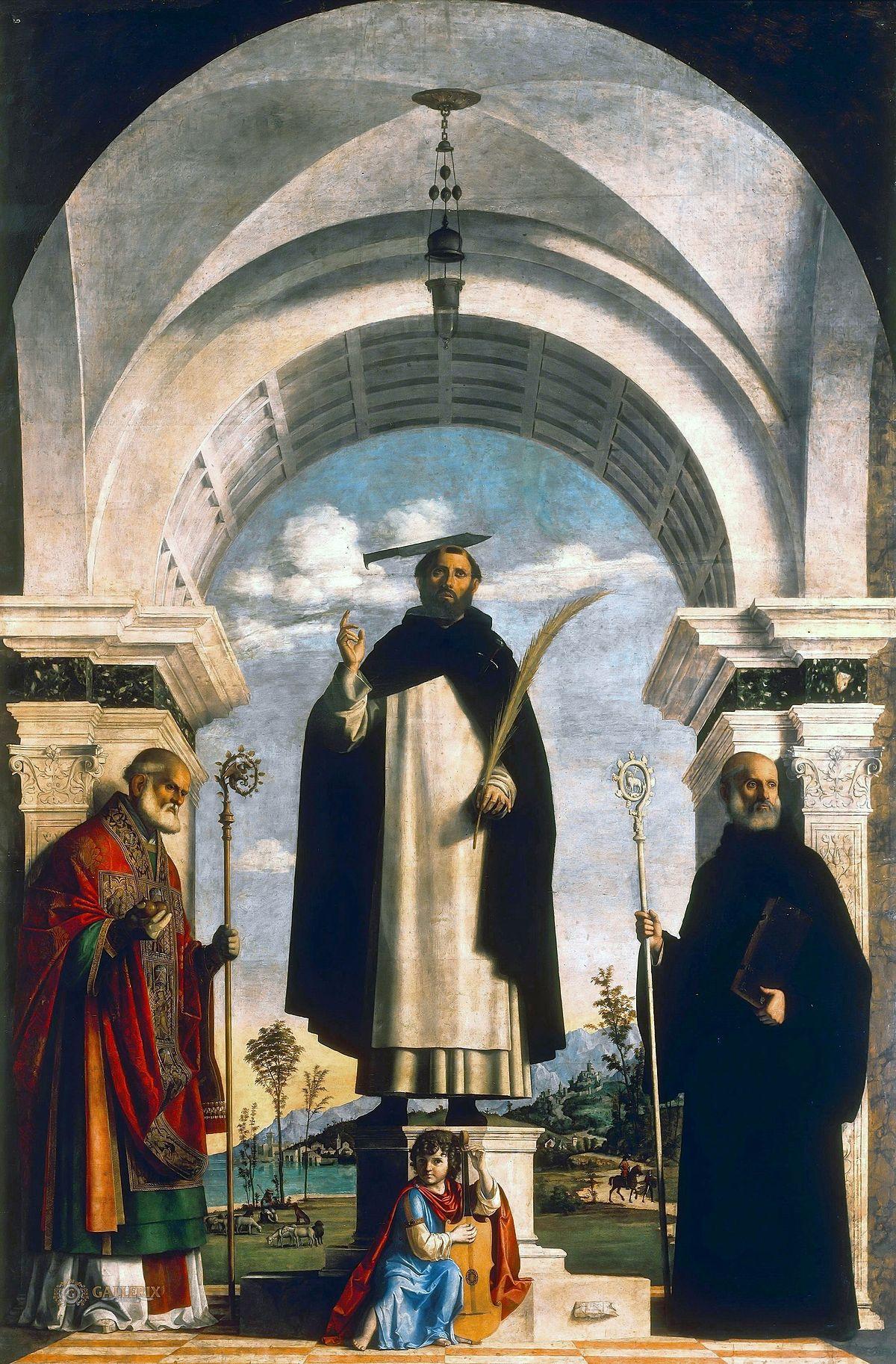 San Pietro martire tra i santi Nicola e Benedetto  Wikipedia
