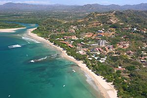 2007 Costa Rica aerial photo of Playa Tamarind...