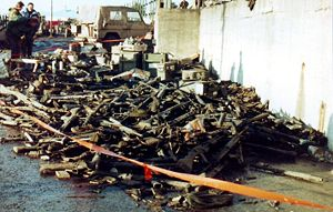 Discarded Argentine weapons, Stanley 1982.