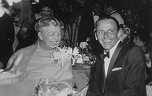 Sinatra, pictured here with Eleanor Roosevelt ...