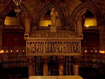 Alabaster sarcophagus of Saint Eulalia of Barc...