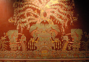 This reproduction of one of the murals depicti...