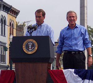 (en) John Boehner and President Bush in Troy, ...
