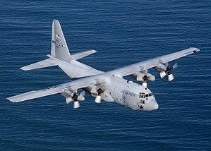 C-130 en pleno vuelo