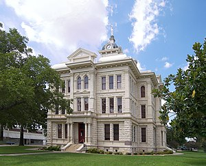 The Milam County Courthouse located at 30.8500...