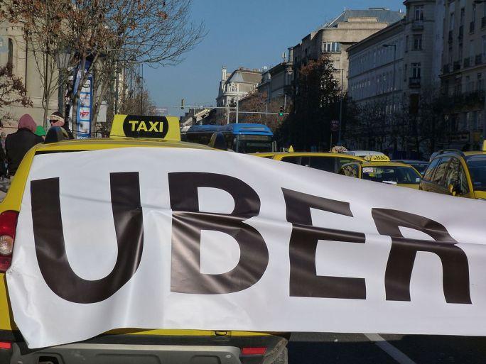 Protest against Uber - Budapest, 2016.01.18 (2)