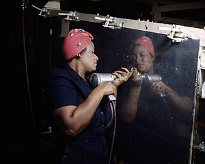 "English: A real-life ""Rosie the Riveter&q..."