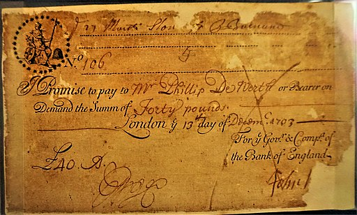 Running Cash Note - Bank of England Museum