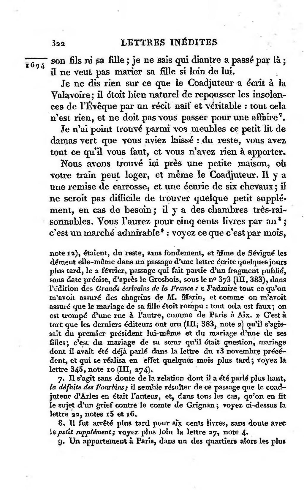 Livre Sans La Lettre A : livre, lettre, Page:Sévigné, Lettres, édition, Capmas, 1.djvu/338, Wikisource