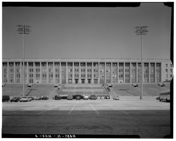 File South Facade Including Soldier Field Parking Lot And