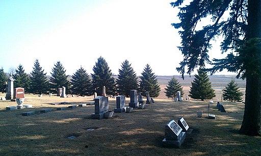 Stordahl Lutheran Cemetery, Dell Rapids, South Dakota grave rows