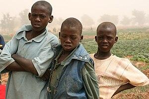English: Children near Tahoua, Niger, Africa.
