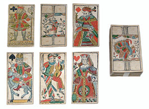 Animal tarot card deck, printed by Waisenhausd...