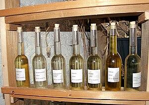 Vegetable oils, plantaardige oliën; from left ...