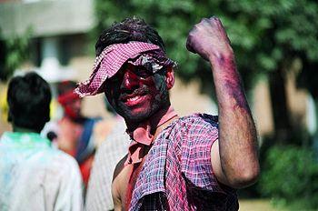 Indian celebrating Holi festival