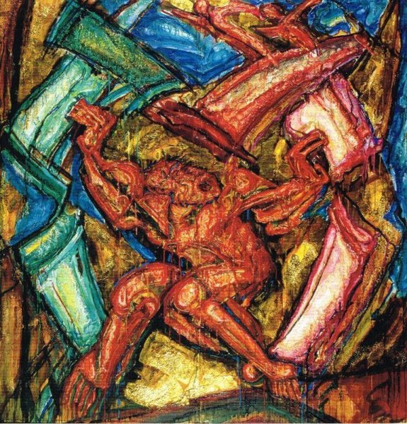 File:Alek Rapoport - Samson Destroying the House of the Philistines - 1989.jpg