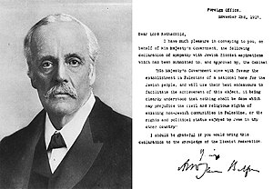 English: Portrait of Lord Balfour, along with ...