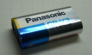 This photograph is a battery lithium CR-V3.