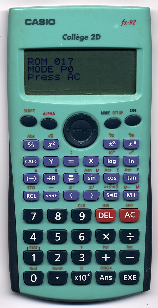 Calculatrice Casio Fx-92 : calculatrice, casio, fx-92, File:CASIO, Fx-92, Collège, 2D.jpeg, Wikimedia, Commons