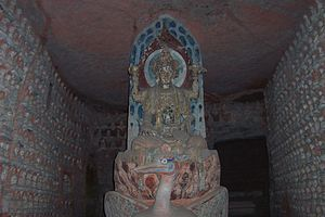 English: Dazu rock carvings, beishan buddhas