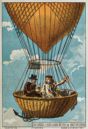 Gay-Lussac and Biot ascend in a hot air balloo...
