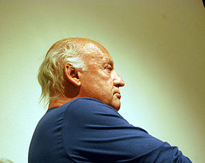 Writer Eduardo Galeano having a conference at ...
