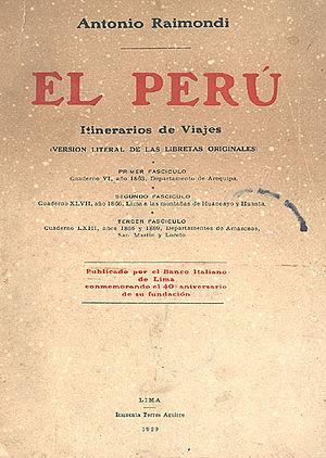 Title page of a 1929 edition of El Perú