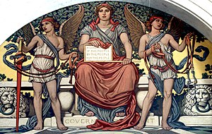 Detail from Government. Mural by Elihu Vedder....
