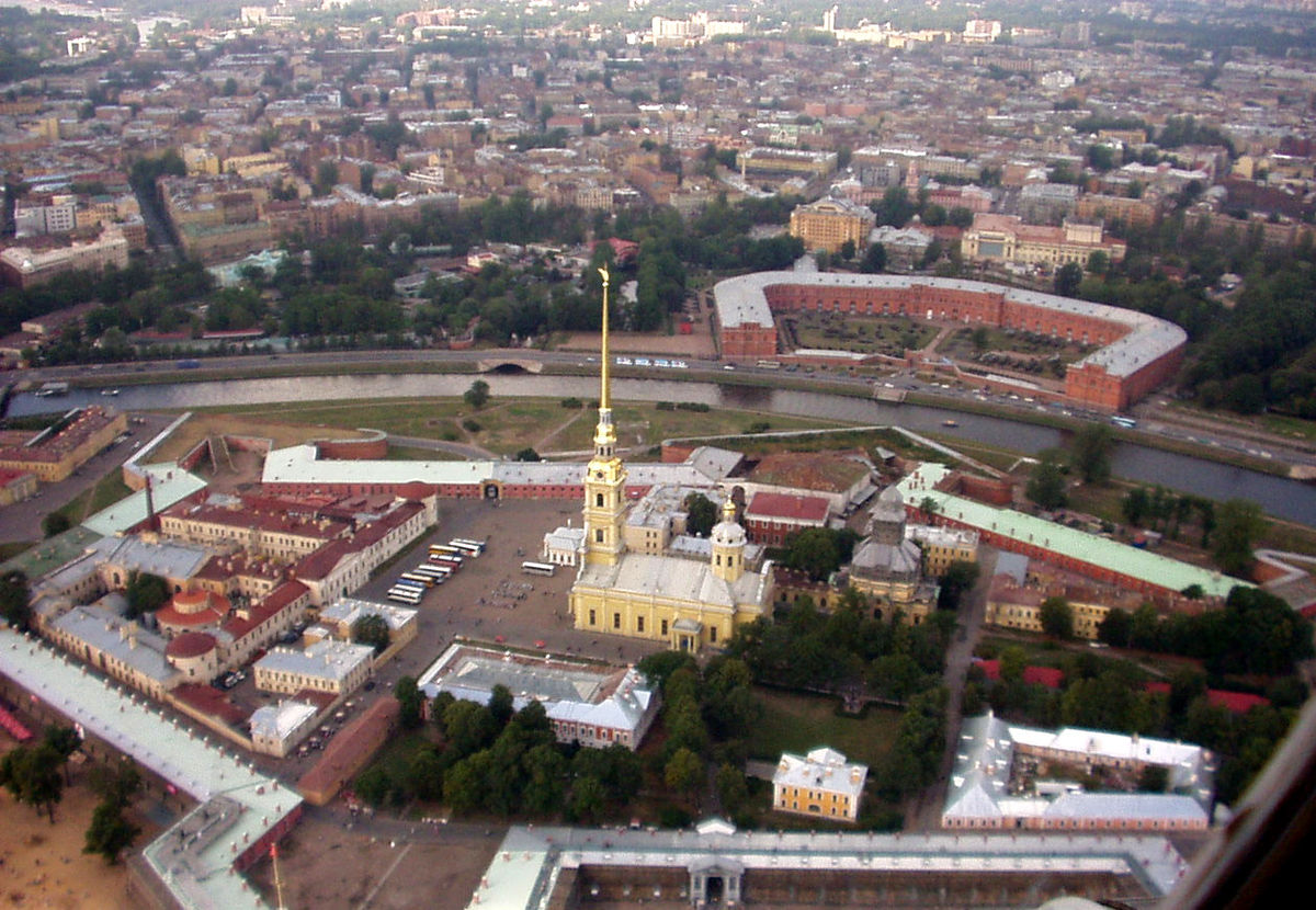 Saint Petersburg Russia Aerial