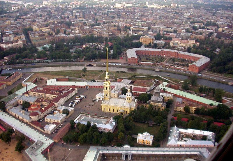 Ficheiro:Petropavlovskaia Krepost aerial.jpg