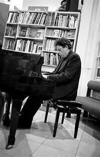 Composer Philip Glass, Florence 1993.