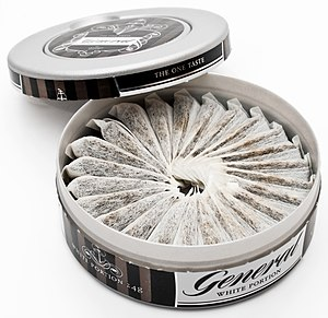 English: Portioned snus by the brand General