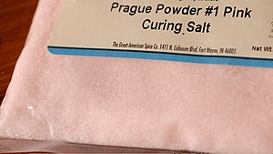 English: Bag of Prague powder #1. Also known a...