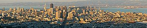 San Francisco just before sunset. This panoram...