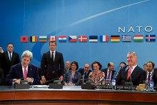 U.S. Secretary of State John Kerry with Đukanović, 19 May 2016